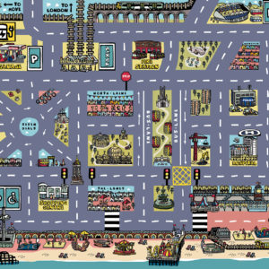 Brighton Car Play Mat Artwork by Lisa Holdcroft | Best Kids Toys 2020, Toys for Toddlers, Educational Toys